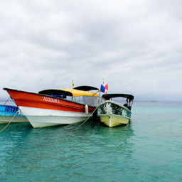 Boats docked in San Blas Island, Guna Yala, Panama