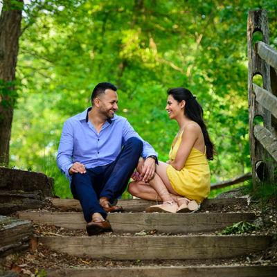 Manali & Hiren Allaire State Park Engagement