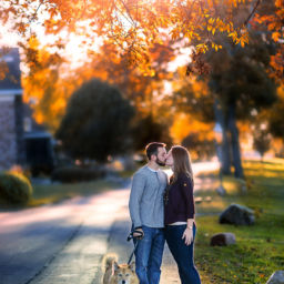 South Jersey Engagement Photography of Brooke & Jon in Palmyra, NJ of Burlington County